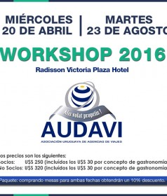CALENDARIO DE WORKSHOPS AUDAVI 2016